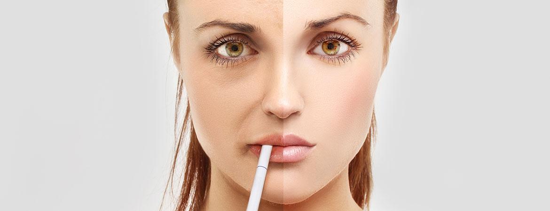 Roken en de huid